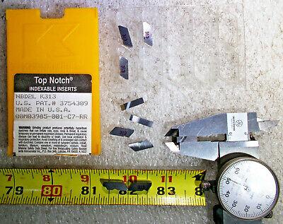 New Kennametal Nbd2l Grade K313 Top Notch Carbide Insert .152 Wide Pack Of 10