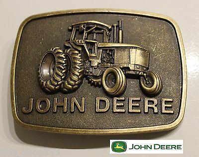 ♈ Raised Graphics   ♈ Antique Bronze finish Belt Buckle Farm Country John Deere