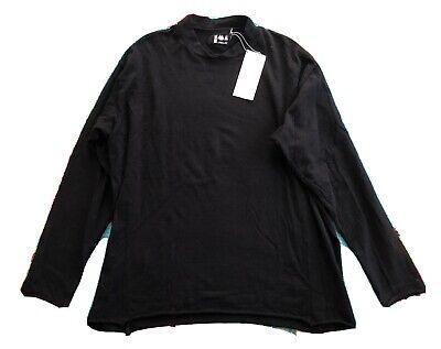 LABO.ART Black Wool Stretch Long Sleeve Top Size 3 NWT