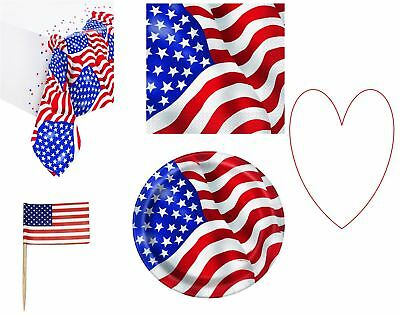 USA tableware flag 4th July decor party decorations supplies