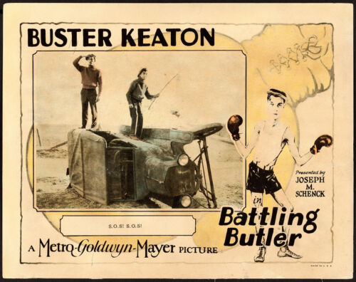 "Movie Poster Battling Butler 1926 Lobby Card 11""x14"" VF-7 Buster Keaton"