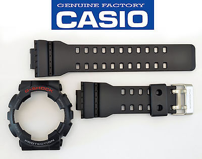 Genuine  Casio GA-110 Watch Band & Bezel Rubber Strap  Black G-Shock - Bezel Rubber Strap Watch