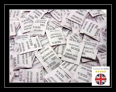 50 - 1g Packets Of Silica Gel Sachets Desiccant Pouches Moisture Absorber Uk