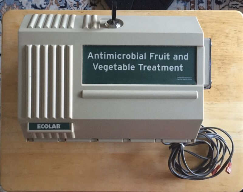 Ecolab Antimicrobial vegetable and fruit treatment with key 92331052
