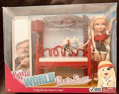 Bratz World Cloe's Room House Red Bed Rare Vanity Furniture Set Doll