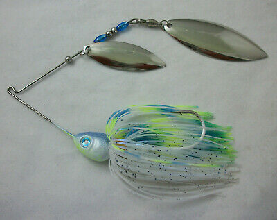 "5 Pack Large Muskie White .045 wire /""Fast Shipping/"" Pike 2oz Spinnerbait"