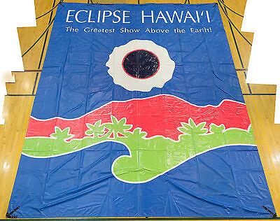 1991 Total Solar Eclipse Hawaii Banner - Rare event souvenir memorabilia unusual