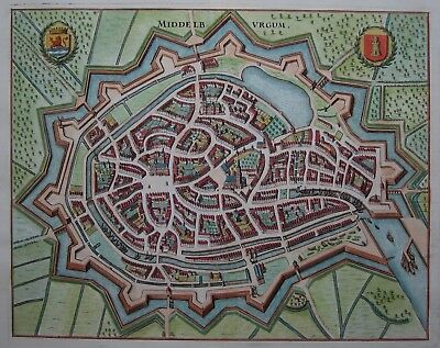 Middelburgum - Middelburg - Merian - Originaler Kupferstich von 1646