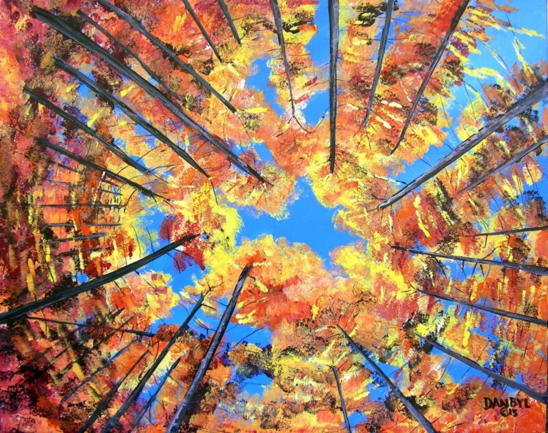 "Landscape Original Art PAINTING Artist DAN BYL Acylic Impressionism huge 60x48"""