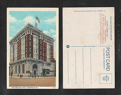 1920S The Dimeling Hotel Clearfield Pa Postcard