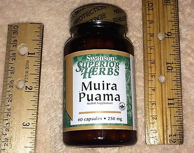 (Muira Puama Root 10:1 EXTRACT,  from Swanson, 60 day supply, 250 mg per capsule )