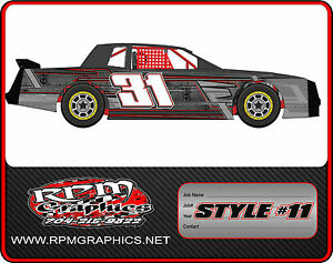 Race car wraps imca 4 cyl streetstock late model for Race car graphic design templates