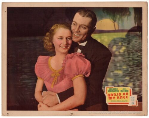 BANJO ON MY KNEE (1936) Barbara Stanwyck & Tony Martin Embrace in Close Shot