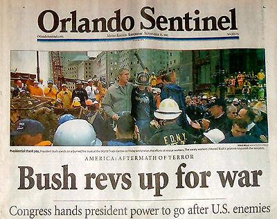 September 11/15, 2001 Newspaper Attacked New York World Trade Center
