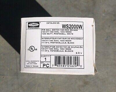 Hubbell Ws2000w Pir Wall Switch Occupancy Motion Sensor 1200 Sq Ft White