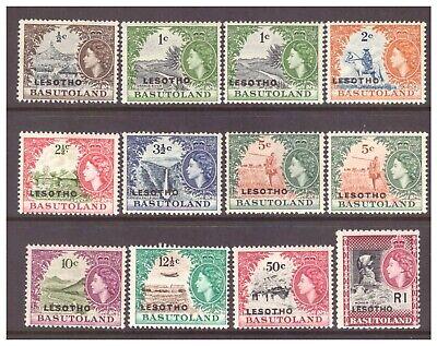 Lesotho on Basutoland QEII 1966 Definitive set (no 75c, 2 x 1c, 2x5c) MM/MH