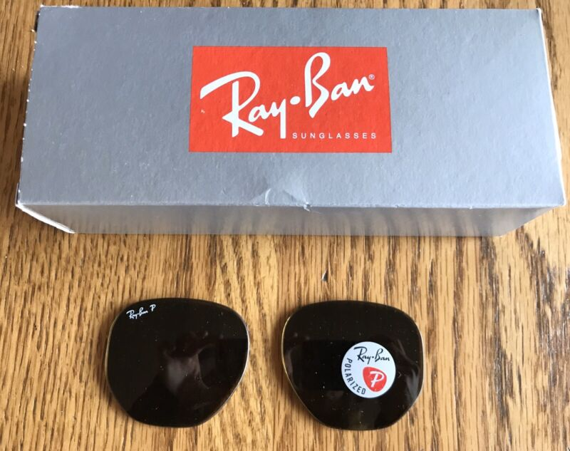 Ray Ban RB3548N Hexagonal Polarized Brown B15 Glass Replacement Lenses Genuine
