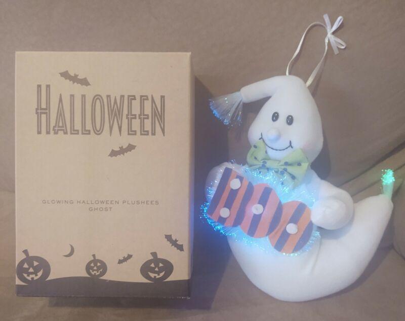 Avon Fiberoptic Ghost Glowing Halloween Plushee w/ Box Fiber Optic TESTED