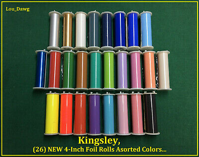 Kingsley Machine 26-new 4-inch Foil Rolls Hot Foil Stamping Machine
