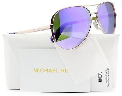 Michael Kors MK5004 Chelsea Aviator Sunglasses Rose Gold w/