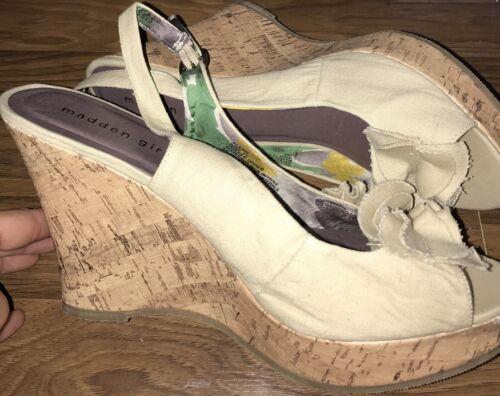 Womens Madden Girl/Beige/Platform/Wedge/Sandals/Sz 11/