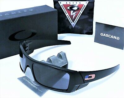BEST PRICE! New Oakley SI Gascan 11-192 Black - Warm Grey Lens. USA Flag O (Best Oakley Lenses)
