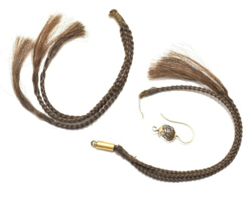 Victorian Braided Hair Mourning Parts AS IS ~ Lot 5500