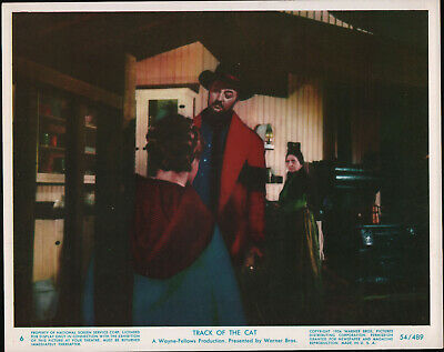 TRACK OF THE CAT original 1954 color lobby still photo ROBERT MITCHUM