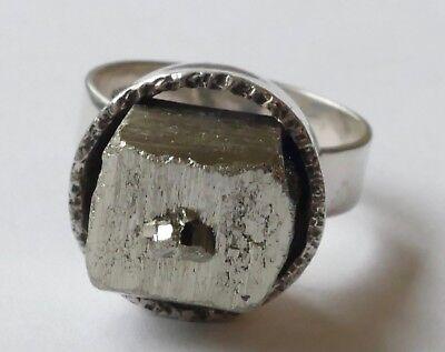 Designer Ring Magnetit Edelstein 835 Silber Vintage 70er ring silver