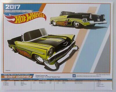 2017 Kmart Kday Hot Wheels * 1956 Chevy Convertible * Collectors E-Sheet Poster!