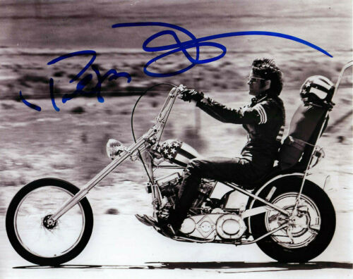 Peter Fonda Signed EASY RIDER 8x10 Photo EXACT Proof COA B