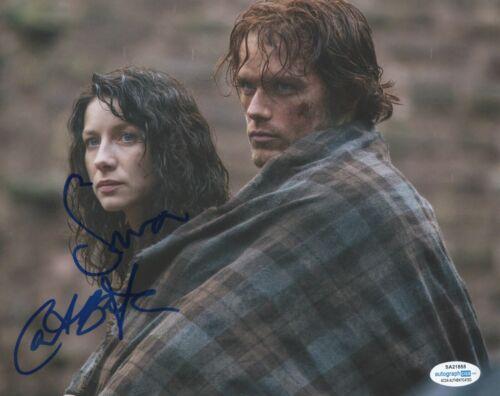 Sam Heughan Caitriona Balfe Outlander Autographed Signed 8x10 Photo ACOA