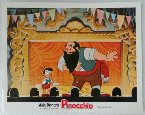 "1971R LOBBY CARD 14"" x 11"" - ""PINOCCHIO"" - WALT DISNEY ALL CARTOON FEATURE"
