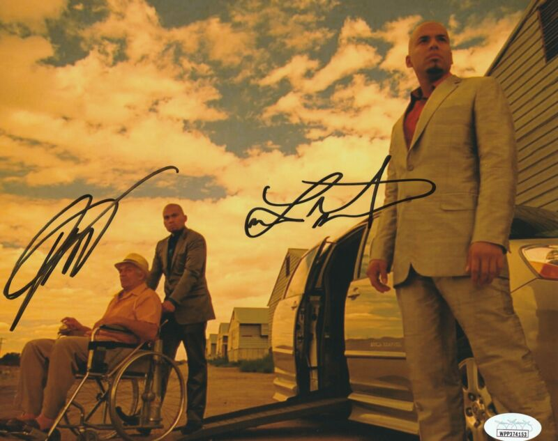 Daniel and Luis Moncada Autograph Breaking Bad 8x10 Photo JSA COA