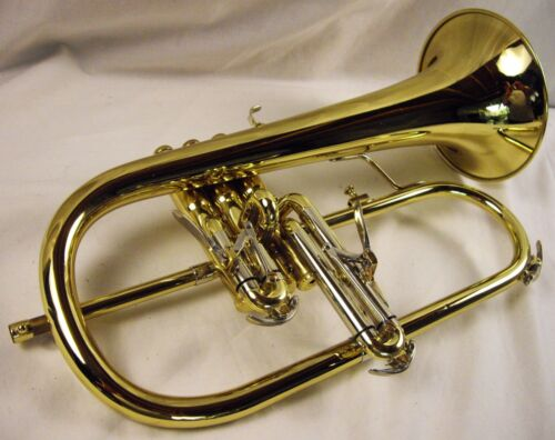 BESSON 947 SOVEREIGN PROFESSIONAL FLUGELHORN LACQUERED BRASS DUAL TRIGGERS NICE