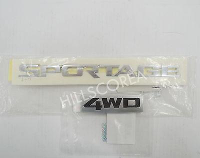 KIA SPORTAGE 2005-2010 OEM Rear Trunk Sportage + 4WD Emblem 2pcs 1set