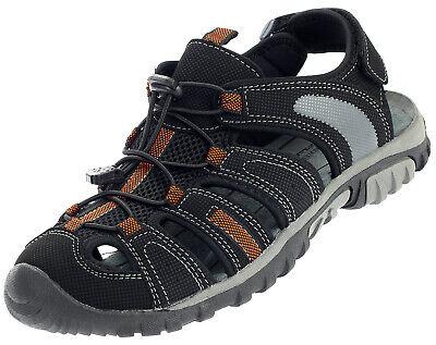 Herren Outdoor Sandalen Sneaker Sport Trekking Schuhe Schwarz Orange 16996