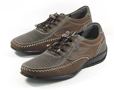 M-HOUSE Men Sneakers Shoes for Men Driving Moccasin Lace up Brown US SIZE 7.5