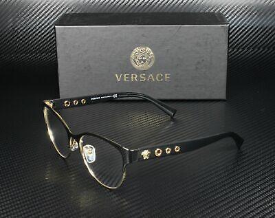 VERSACE VE1237 1342 Black Gold Demo Lens 53 mm Women's Eyeglasses