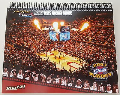 7eb8f0de89b1 Cleveland Cavaliers 2007 NBA Playoffs 1st Round Media Guide NBA LEBRON JAMES