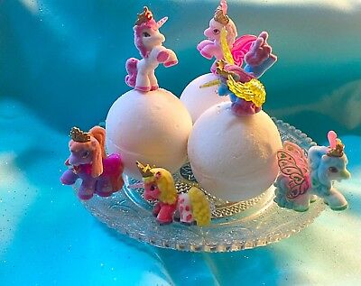 6 Bath Bomb Unicorn Birthday Party Favor Pegasus Easter Basket Valentines Gift - Bomb Party
