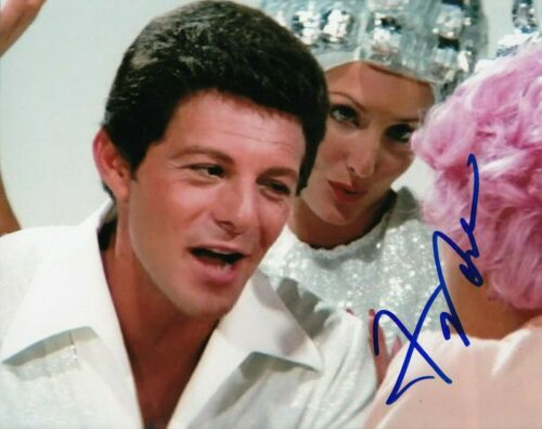 FRANKIE AVALON signed (GREASE) Movie 8X10 photo *Beauty School Dropout* W/COA #4