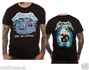 Metallica-Ride-The-Lightning-T-Shirt-Official-S-M-L-XL-XXL
