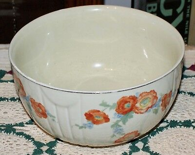 Vintage HALLS' QUALITY KITCHENWARE BOWL With Lovely Floral Pattern