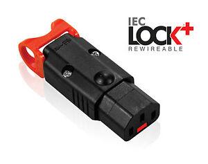 Power Lock Locking IEC C13 Female  Rewireable Appliance Connector Low Smoke