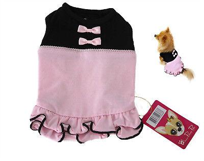Hundekleid verspielt in  rosa schwarz LUXUSHUND Pretty Pet GR XS M und L
