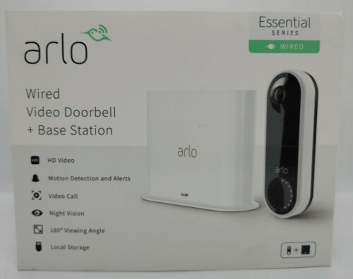 Arlo Wired HD Video Doorbell + Base Station Night Vision