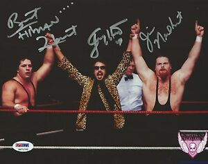 Jim-Neidhart-Bret-amp-Jimmy-Hart-Foundation-Signed-8x10-Photo-PSA-DNA-COA-WWE-WWF