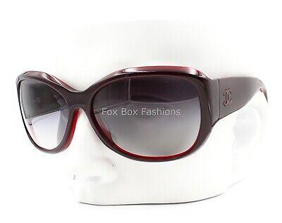 Chanel 5226H 1297/3C Sunglasses Dark Red Burgundy / Gray Gradient (Red Chanel Sunglasses)