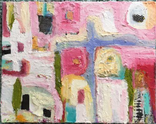 Desert Vision Abstract Original Art Mixed Media Painting 14 x11 x1.5  - $85.00